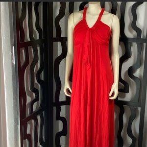 Calvin Klein Red Sleeveless Maxi Dress
